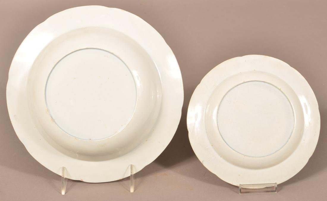 Two Kings Rose Soft Paste China Plates. - 2