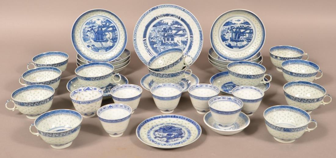 Lot of Vintage Canton Oriental Porcelain.