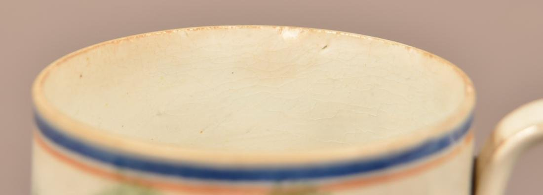 Leeds Soft Paste China Peafowl Mug. - 2