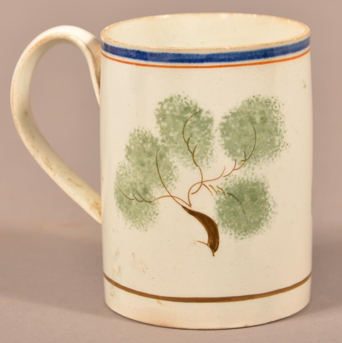 Leeds Soft Paste China Peafowl Mug. - 3