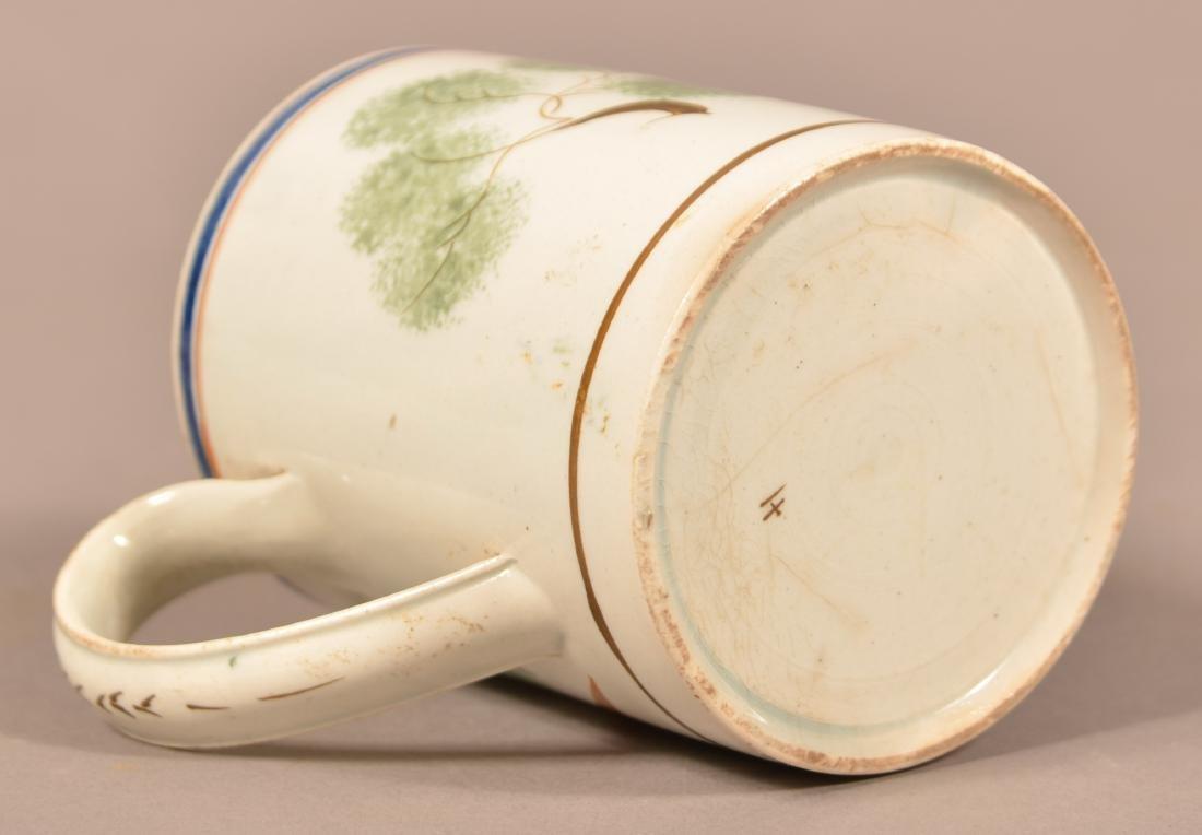Leeds Soft Paste China Peafowl Mug. - 4