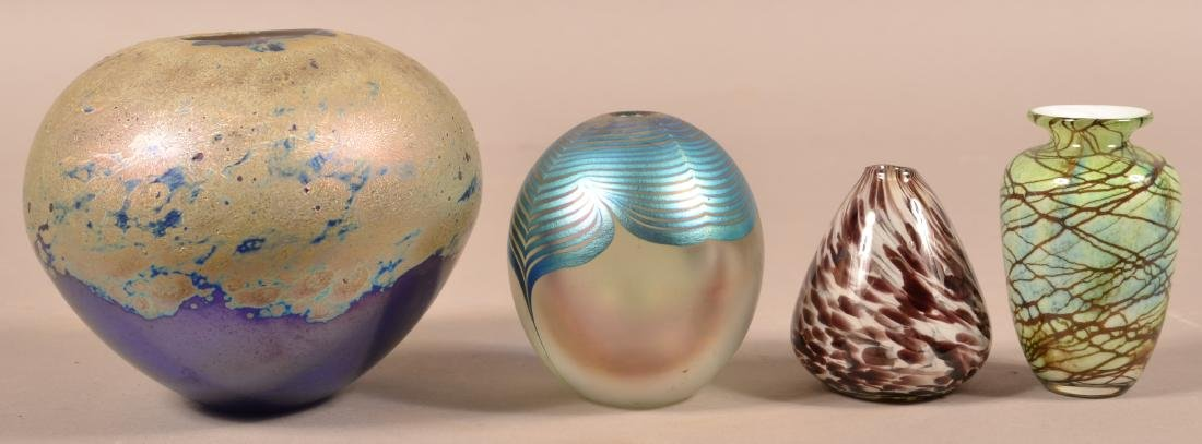 Four Contemporary Art Glass Vases.
