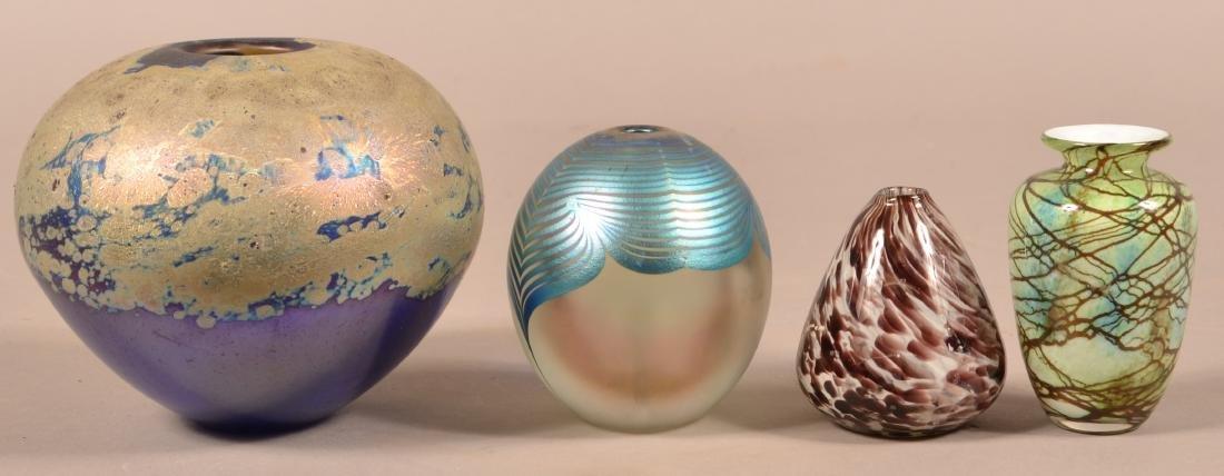 Four Contemporary Art Glass Vases. - 2