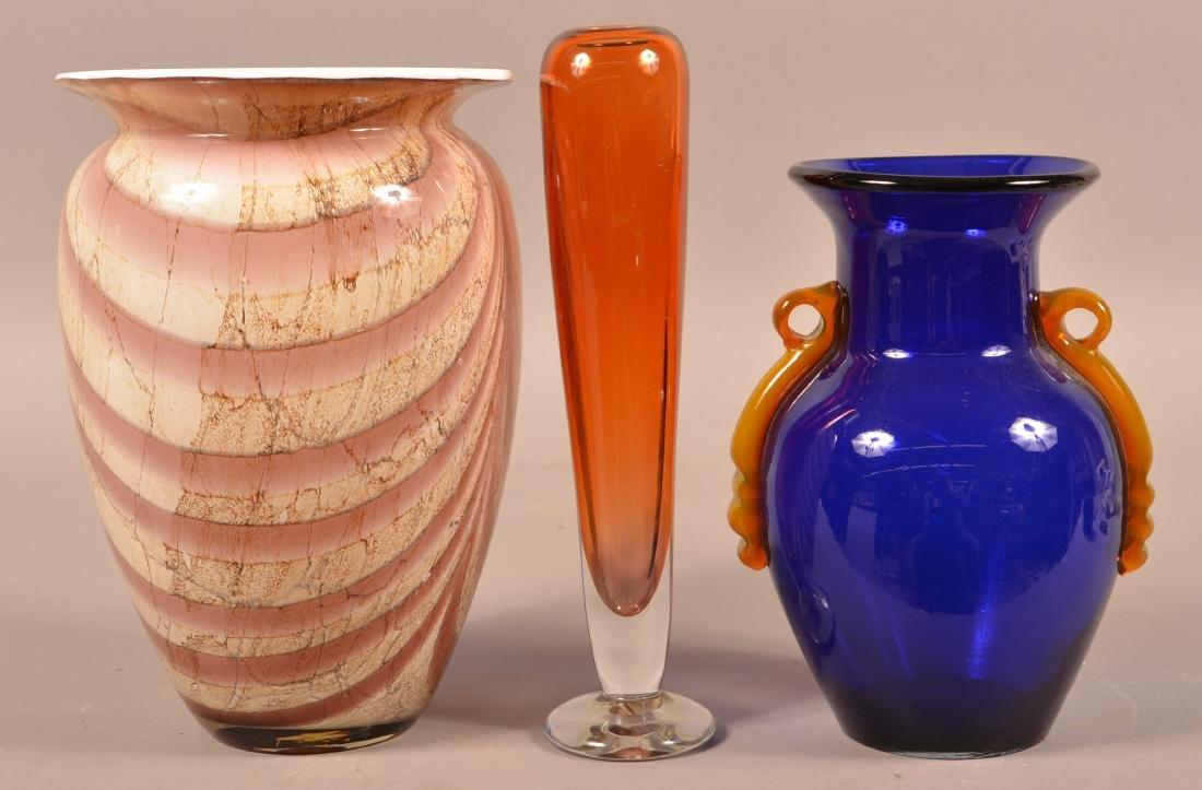 Three Contemporary Art Glass Vases. - 2