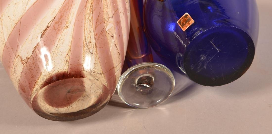 Three Contemporary Art Glass Vases. - 3