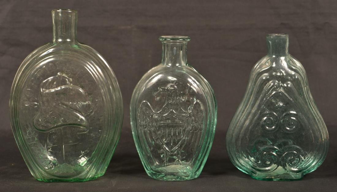 Three Various Aqua Flasks. - 2