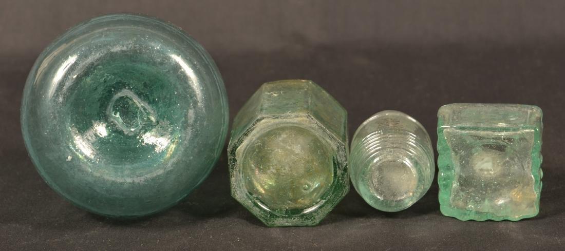 Four Various Blown Glass Bottles. - 3