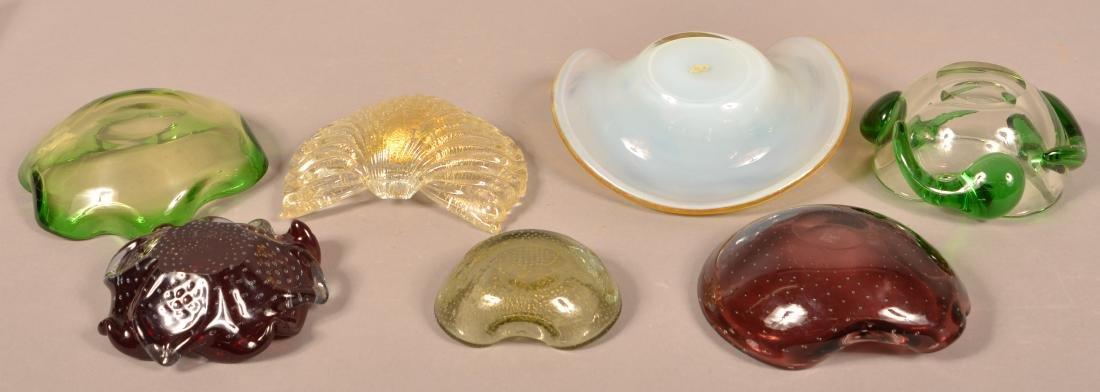 Seven Pieces of Contemporary Art Glass. - 2