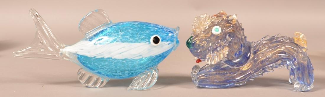 Four Contemporary Art Glass Animals. - 2