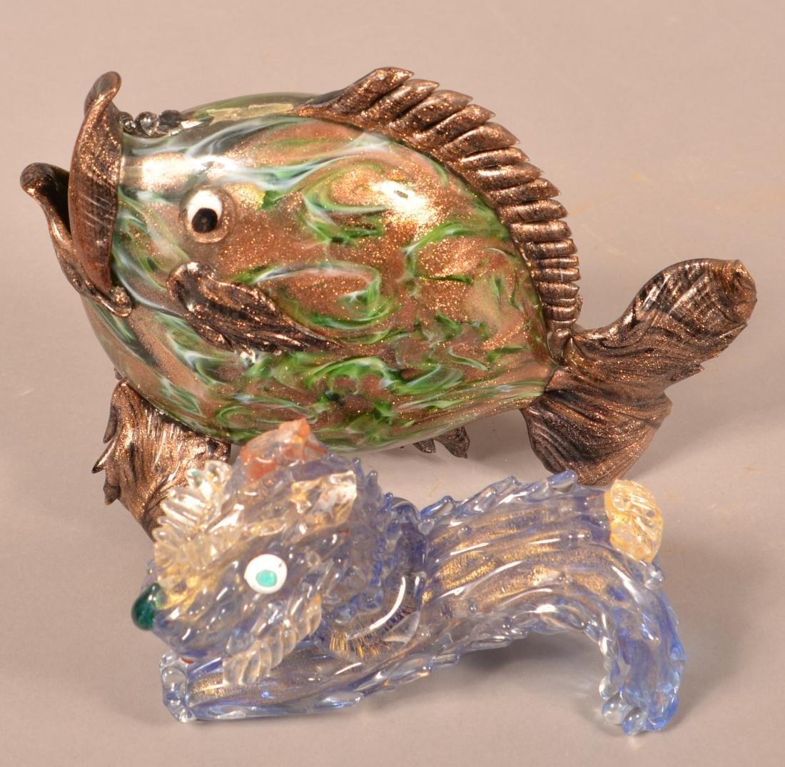 Four Contemporary Art Glass Animals. - 3