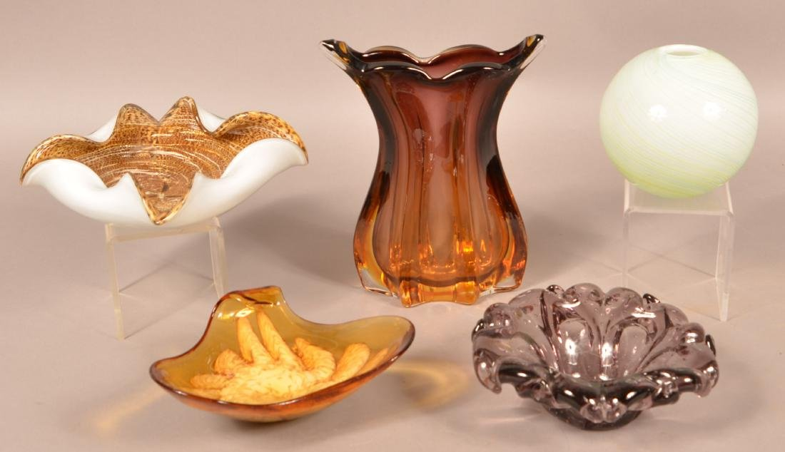 Five Pieces of Contemporary Art Glass.