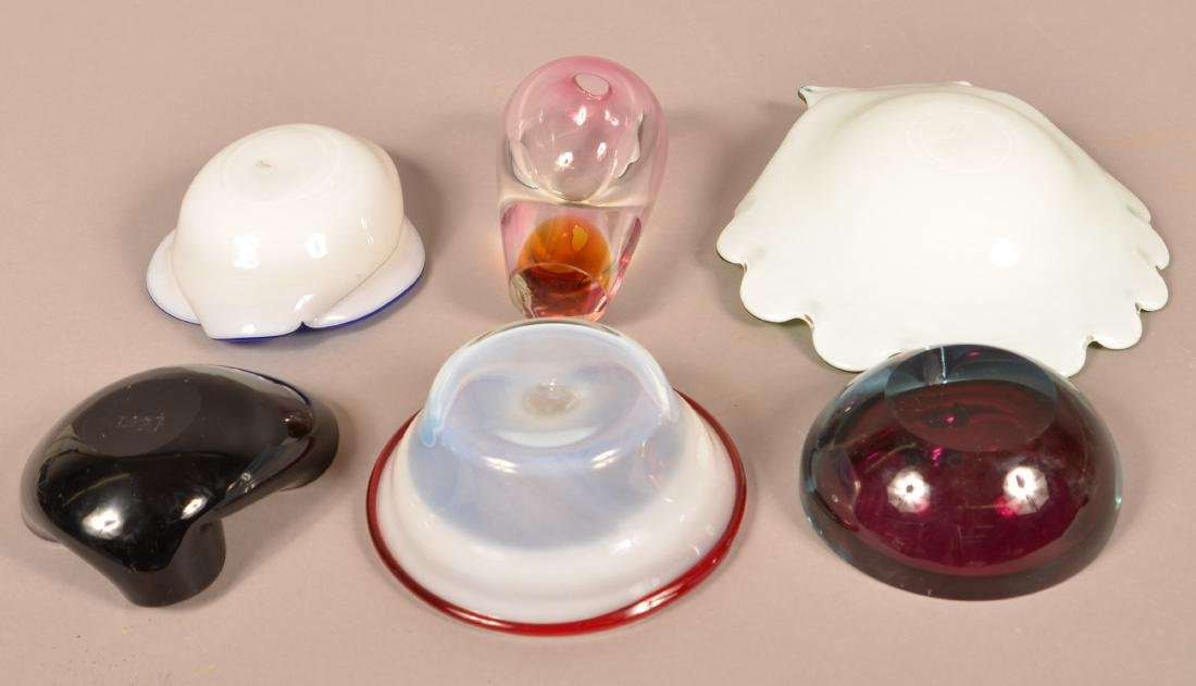 Six Pieces of Contemporary Art Glass. - 2