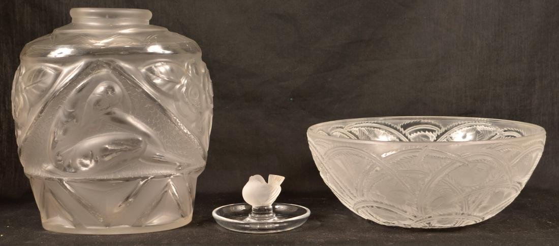 Three Pieces of Lalique Glass.