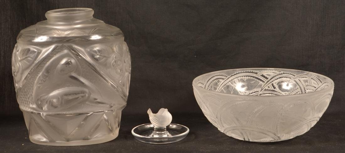 Three Pieces of Lalique Glass. - 2