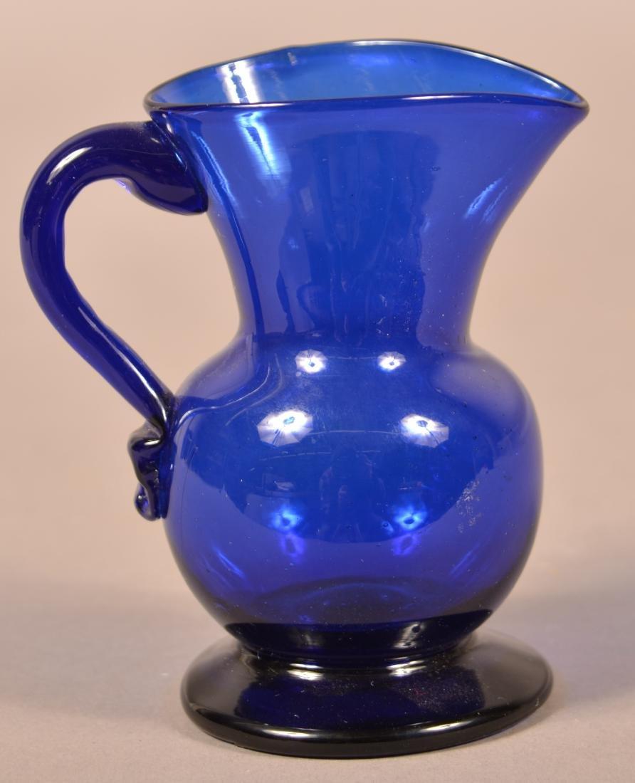 Stiegel Type Cobalt Blue Glass Cream Pitcher.