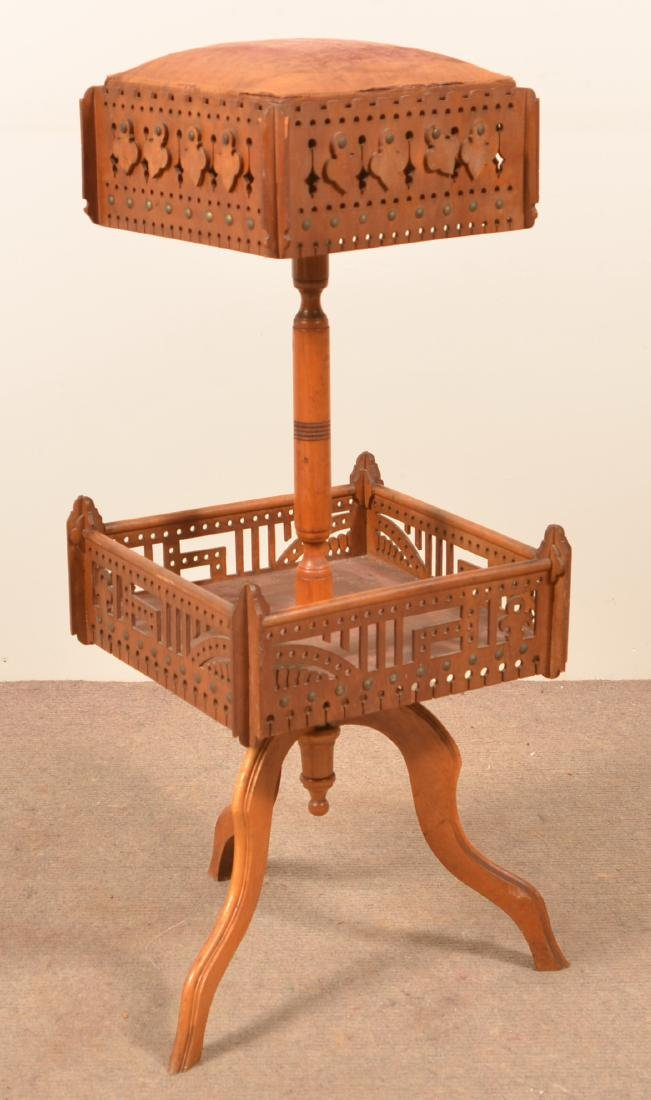 Fretwork Sewing Stand with Spool Holder. - 3