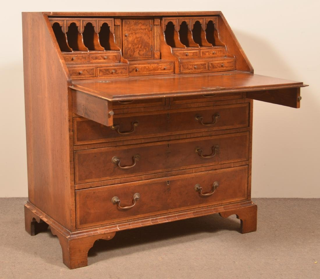 Mahogany Transitional Slant-Lid Desk.