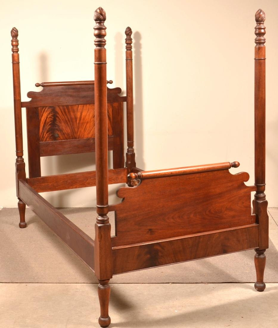 Federal Style Mahogany 3/4 Poster Bed.