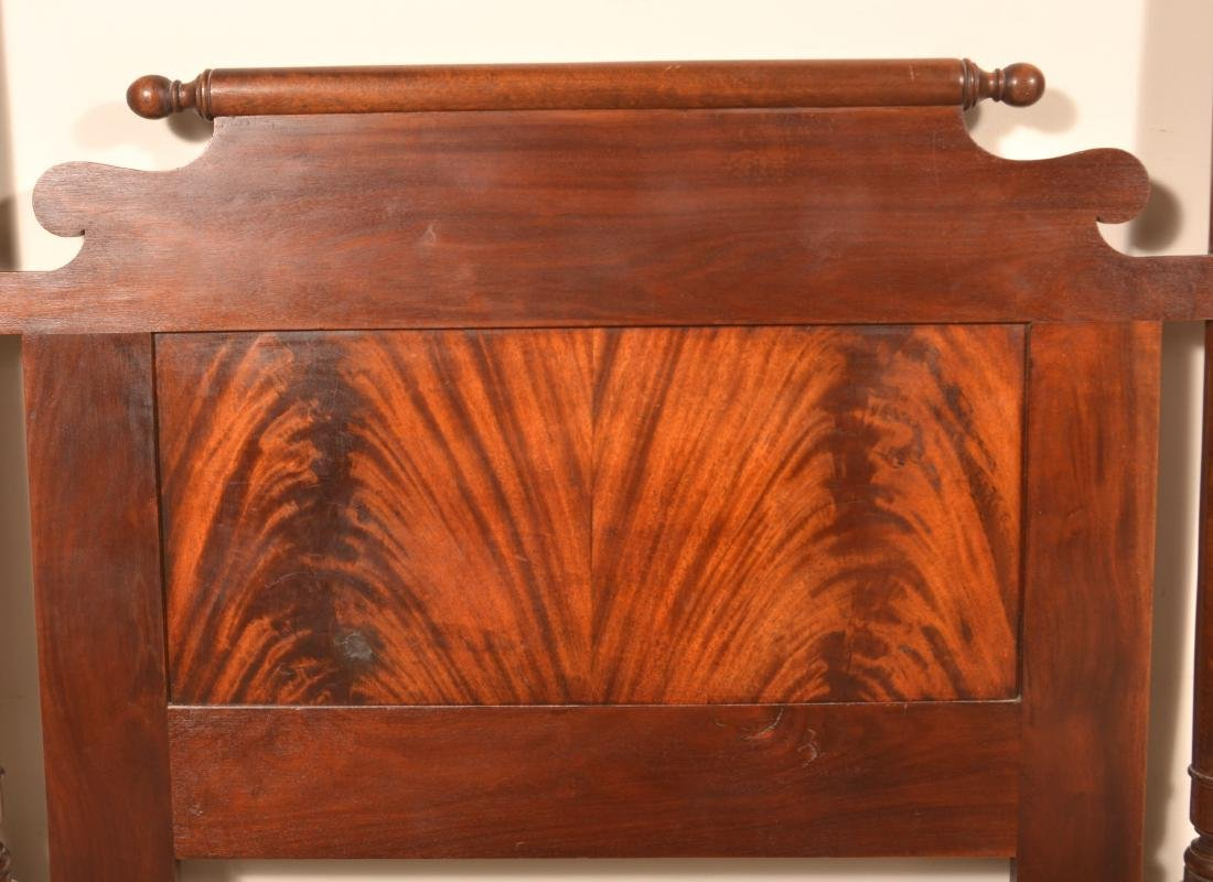 Federal Style Mahogany 3/4 Poster Bed. - 2