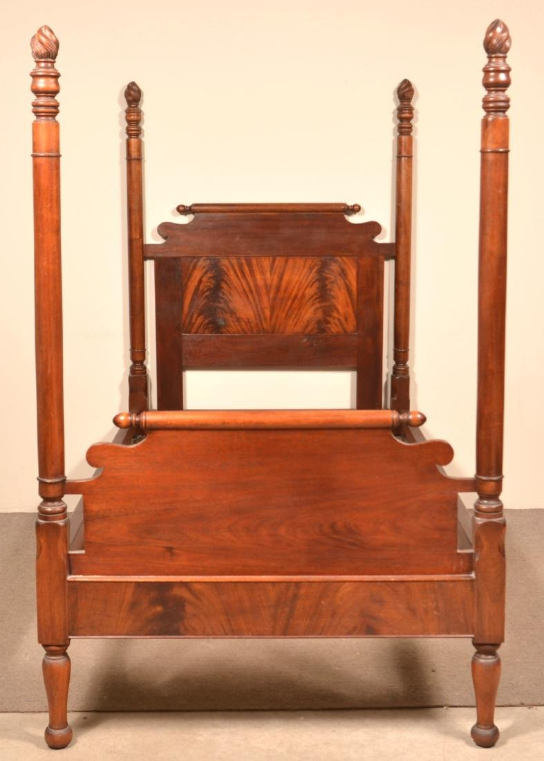 Federal Style Mahogany 3/4 Poster Bed. - 3