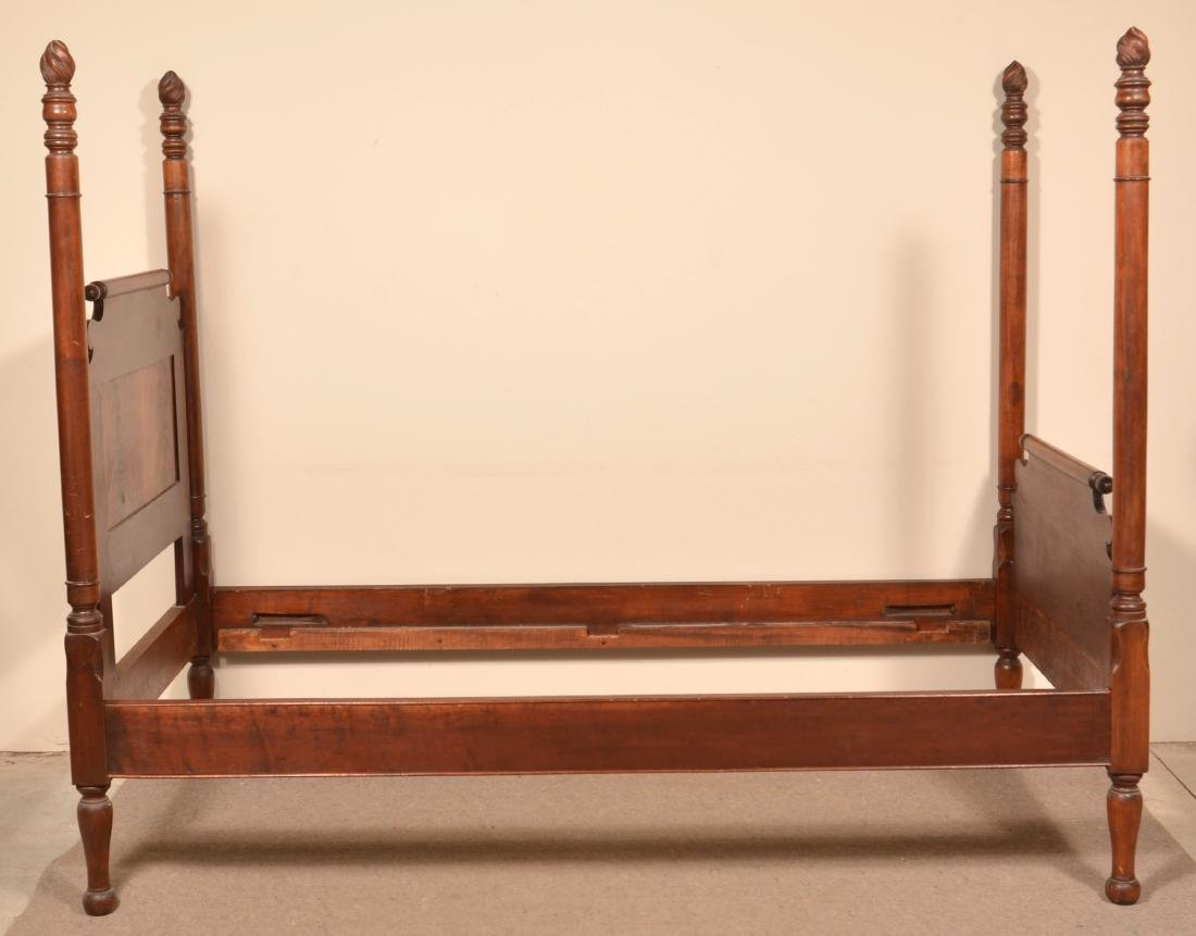 Federal Style Mahogany 3/4 Poster Bed. - 4