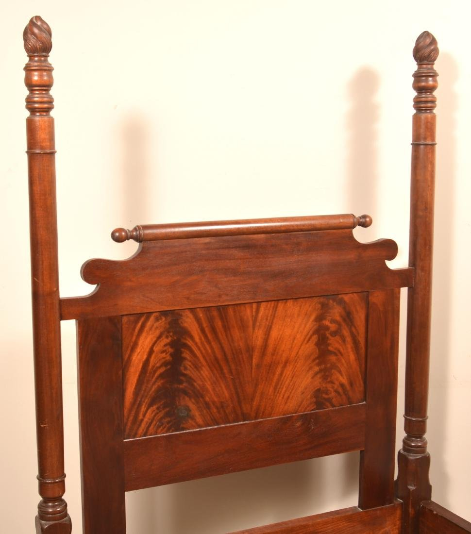Federal Style Mahogany 3/4 Poster Bed. - 6