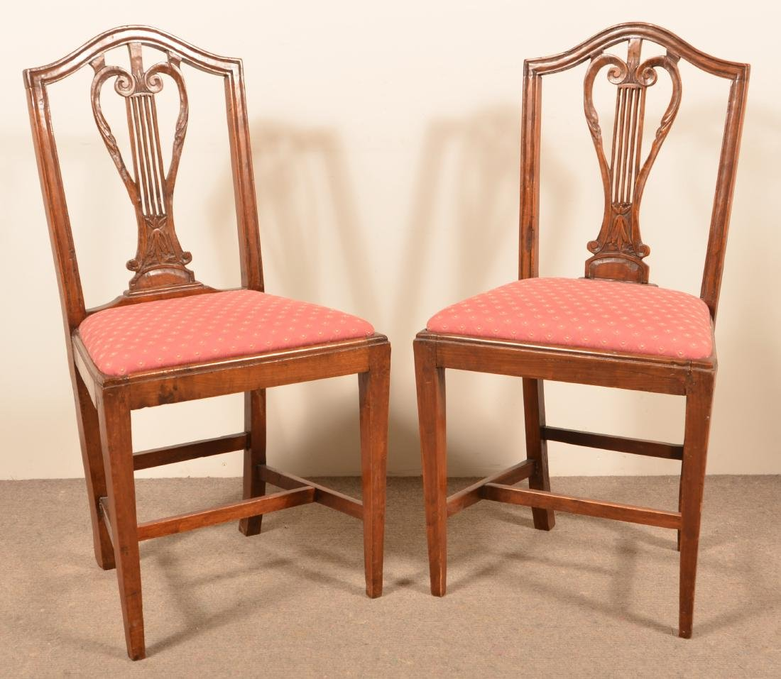 Pair of American Federal Cherry Sidechairs.