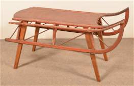 Antique Painted Childs Sled
