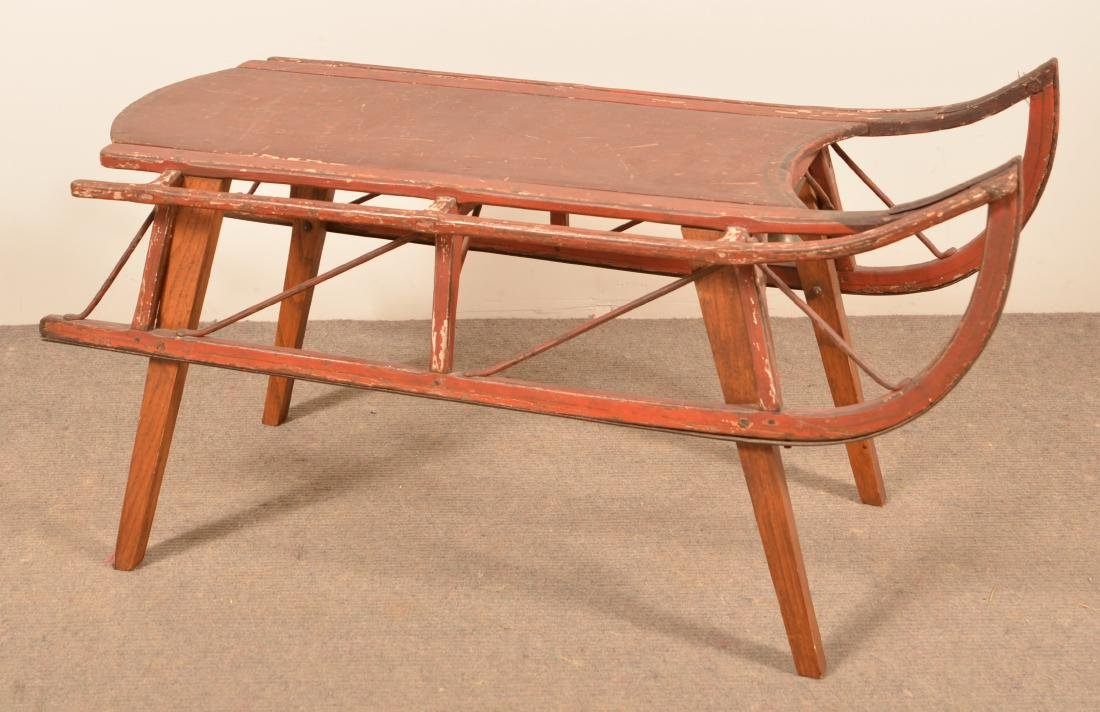 Antique Painted Child's Sled.