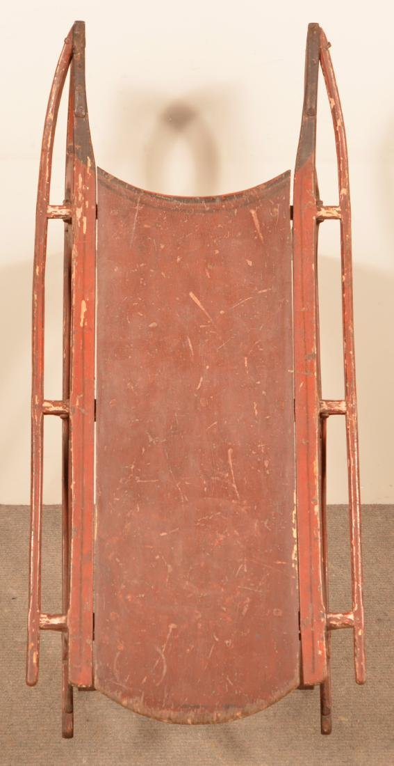 Antique Painted Child's Sled. - 3