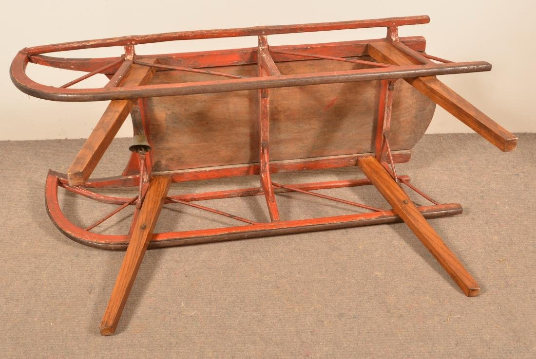 Antique Painted Child's Sled. - 4