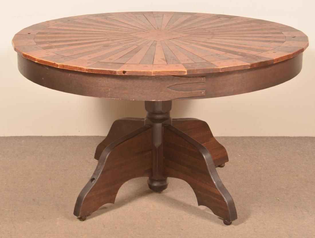 Shaker Style Circular Top Pedestal Table.