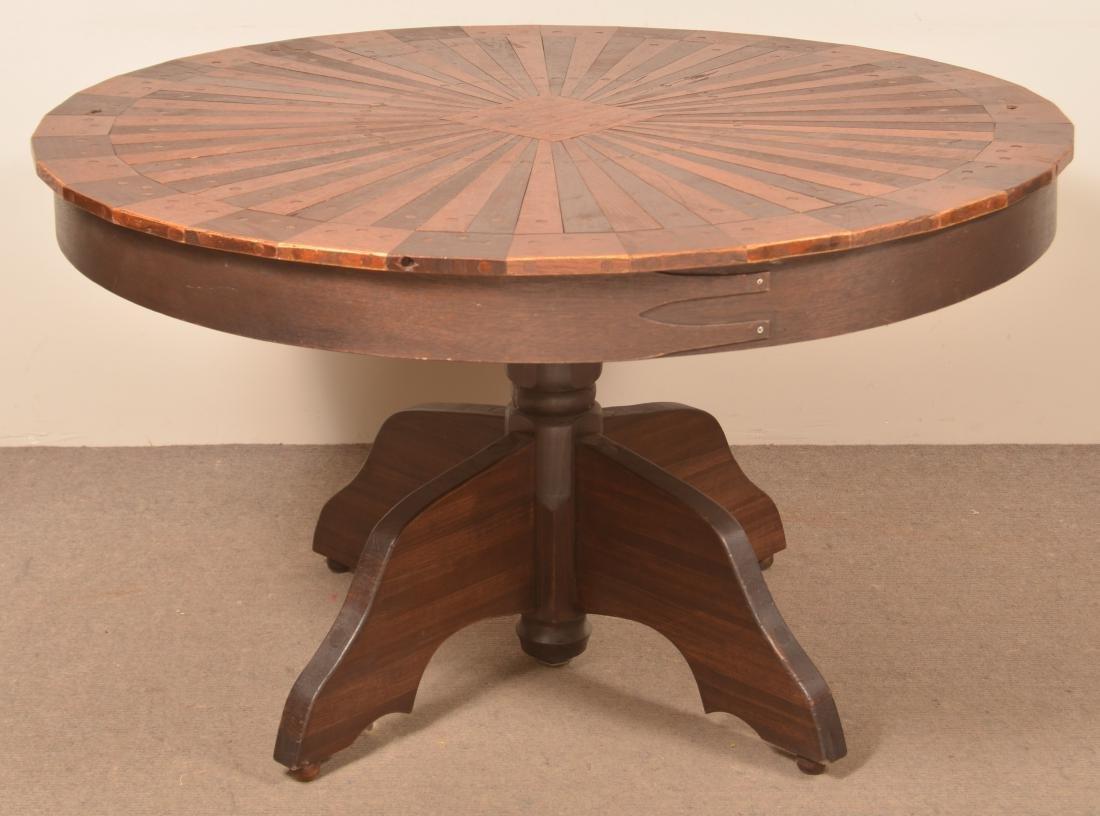 Shaker Style Circular Top Pedestal Table. - 2