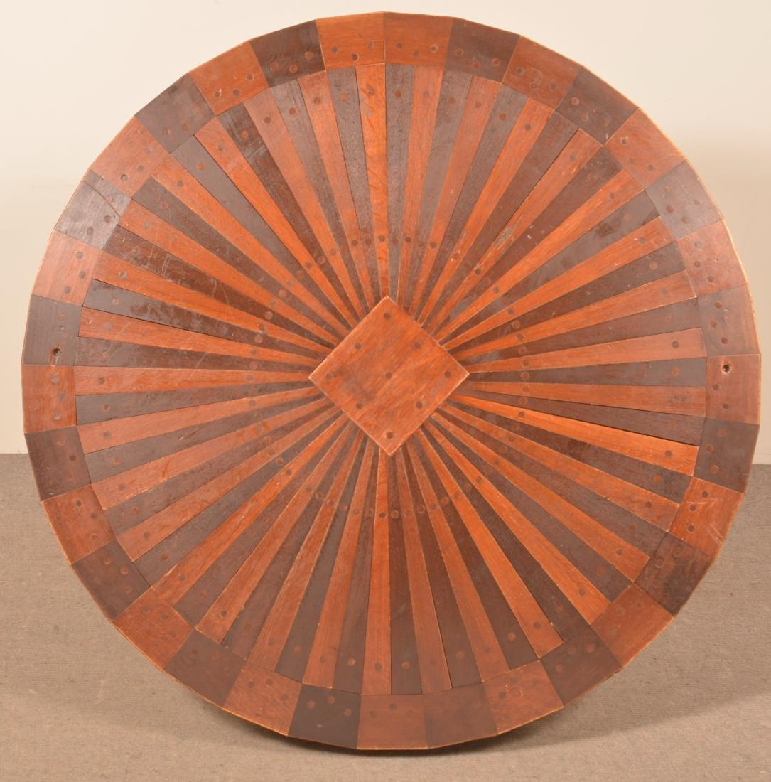 Shaker Style Circular Top Pedestal Table. - 4