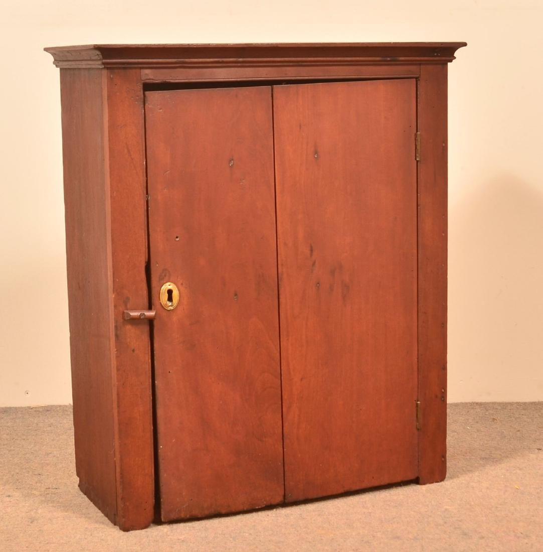 Pennsylvania 19th Century Cherry Hanging Cupboard.