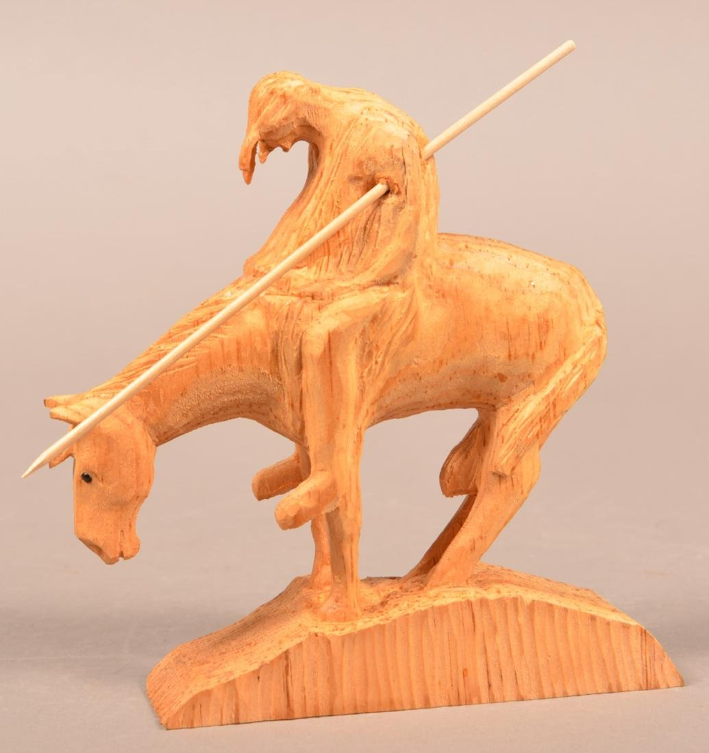Frank Updegrove Native American Wood Carving.