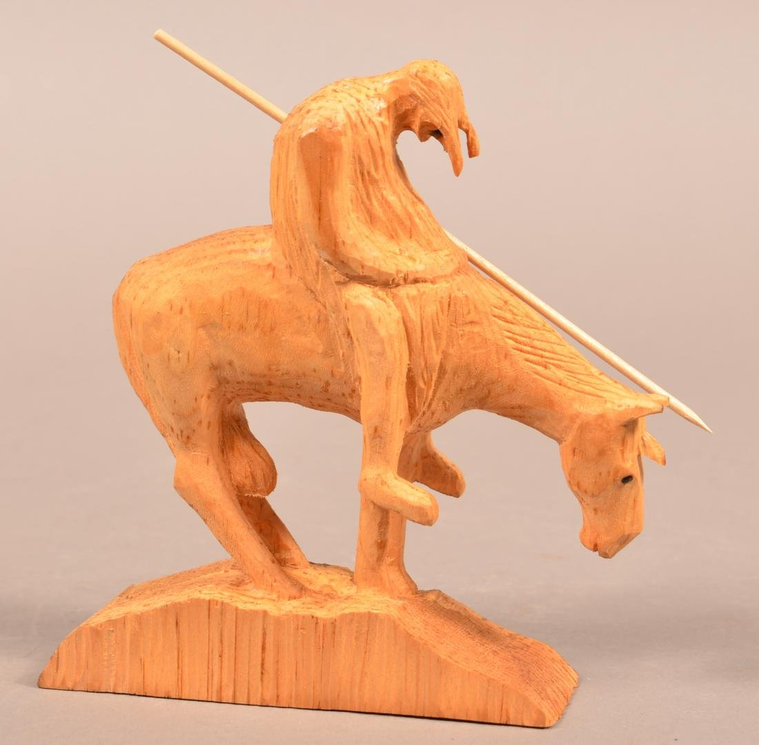 Frank Updegrove Native American Wood Carving. - 2