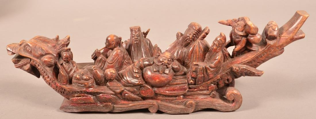 Four Antique/Vintage Oriental Wood Carvings. - 2