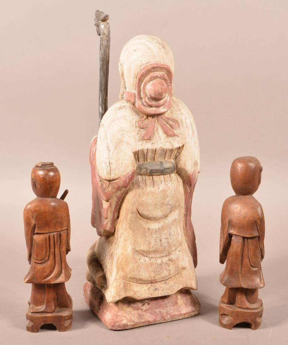 Four Antique/Vintage Oriental Wood Carvings. - 4