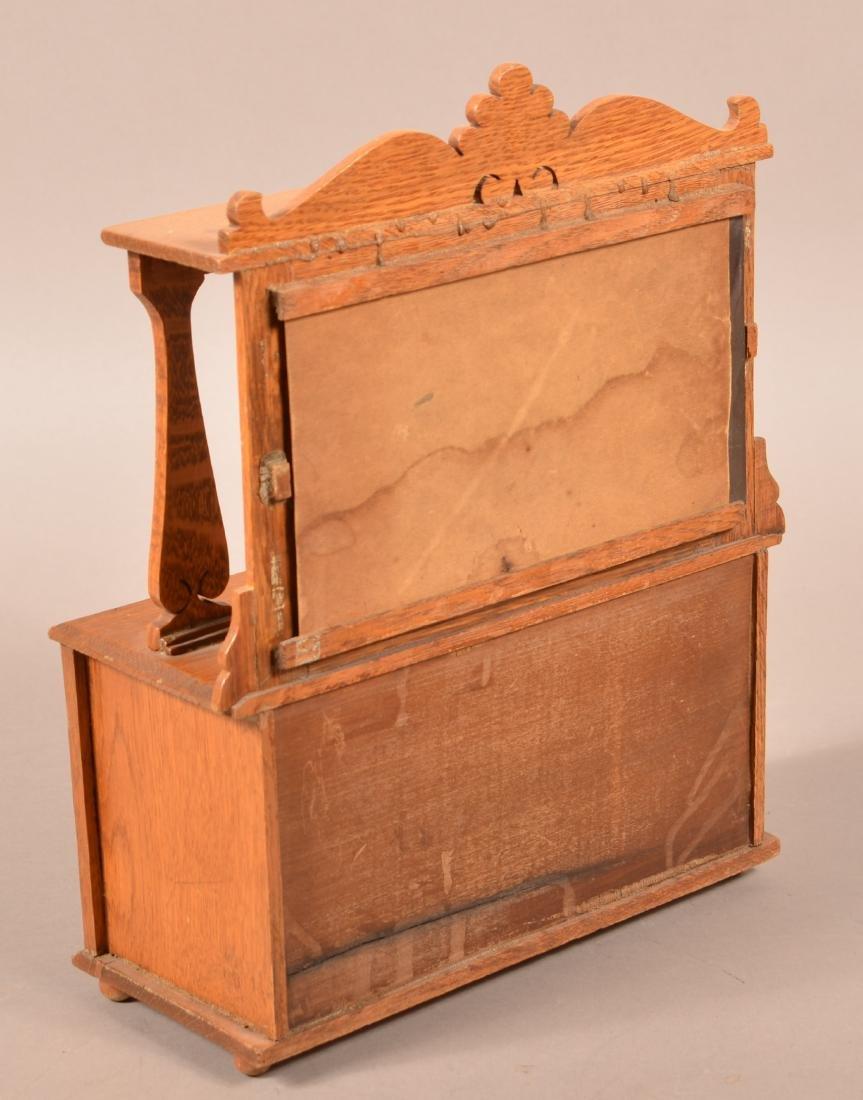 Miniature Oak Mirror-back Sideboard. - 2
