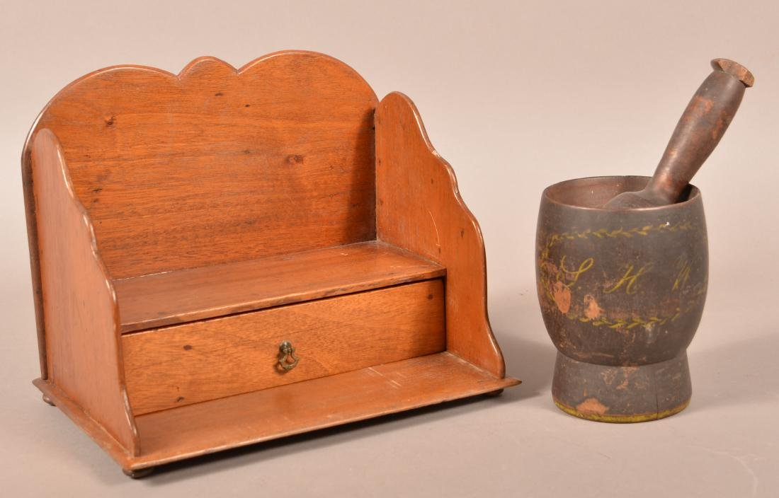 Two Pieces of Antique Woodenware.