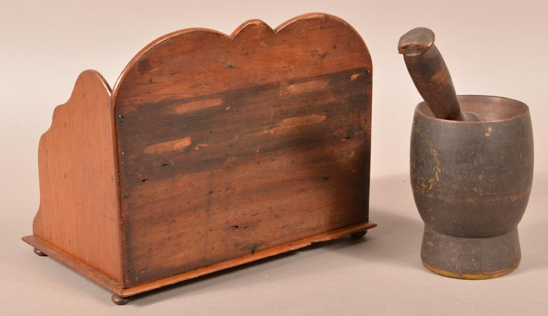 Two Pieces of Antique Woodenware. - 2