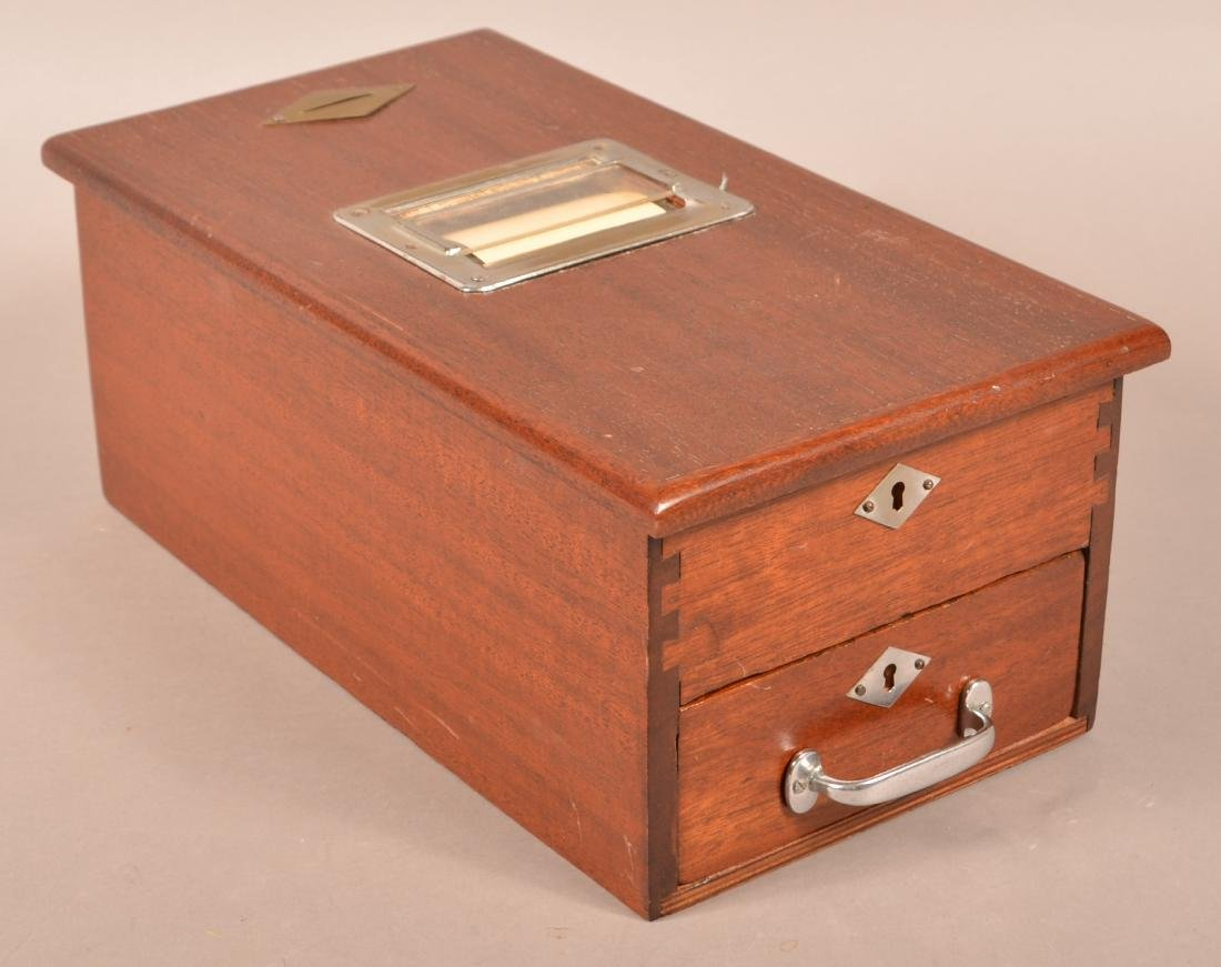 Beacon Mahogany Receipt Box/Cash Drawer.