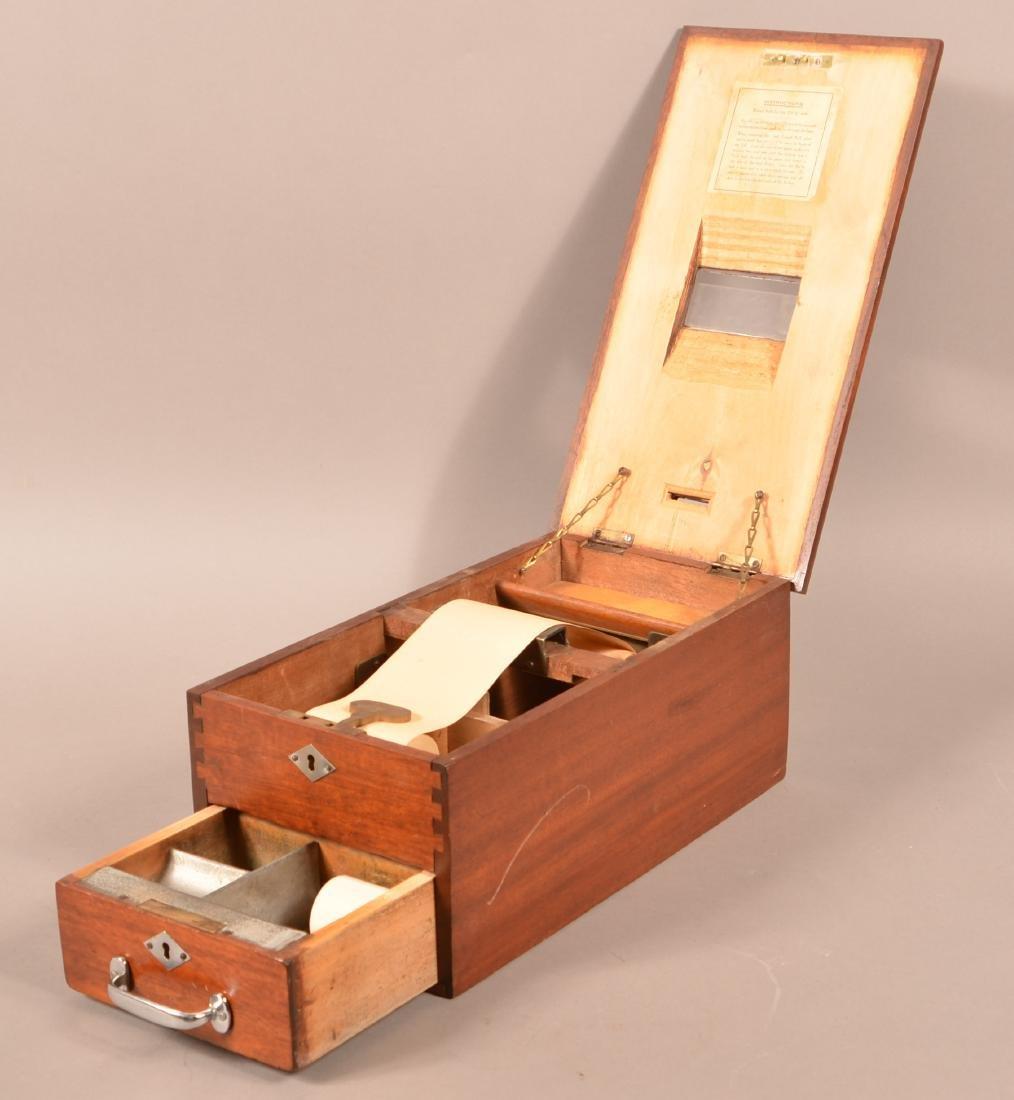 Beacon Mahogany Receipt Box/Cash Drawer. - 2
