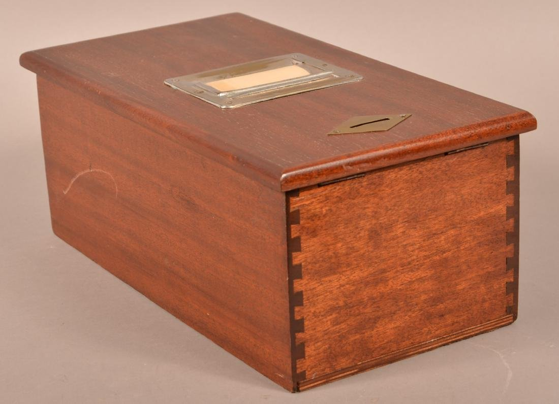 Beacon Mahogany Receipt Box/Cash Drawer. - 3
