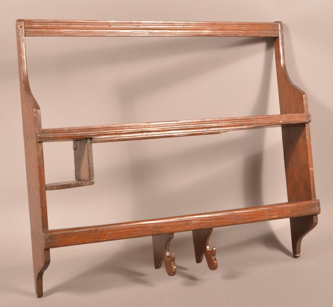Antique Softwood Wall Shelf.