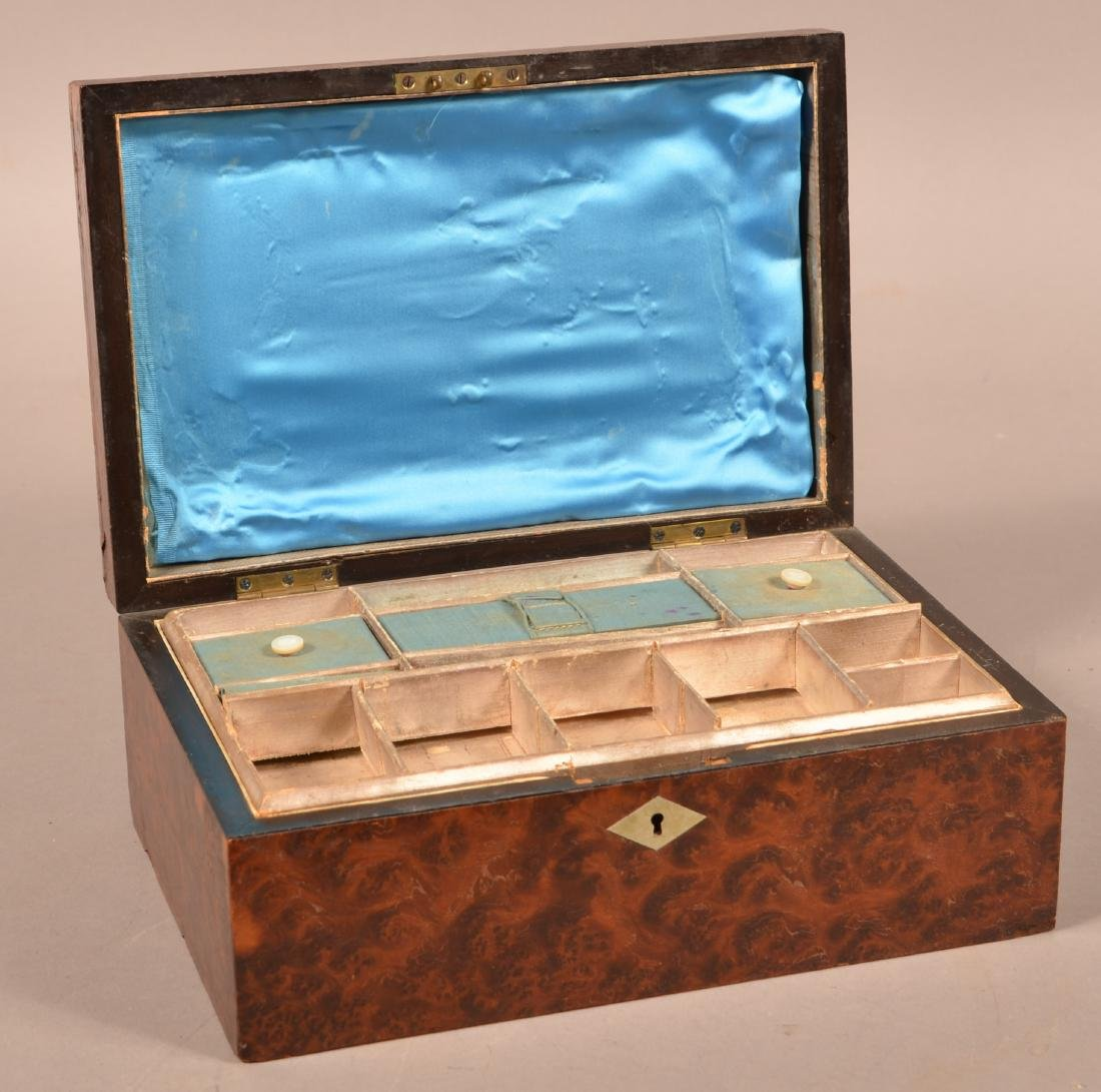 Early 19th Century Burlwood Sewing Box. - 2