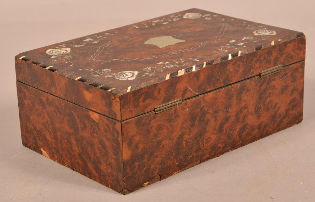 Early 19th Century Burlwood Sewing Box. - 3