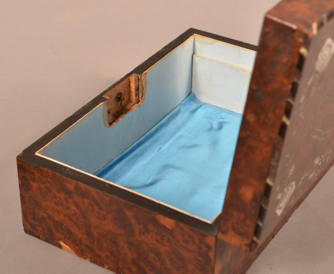 Early 19th Century Burlwood Sewing Box. - 4