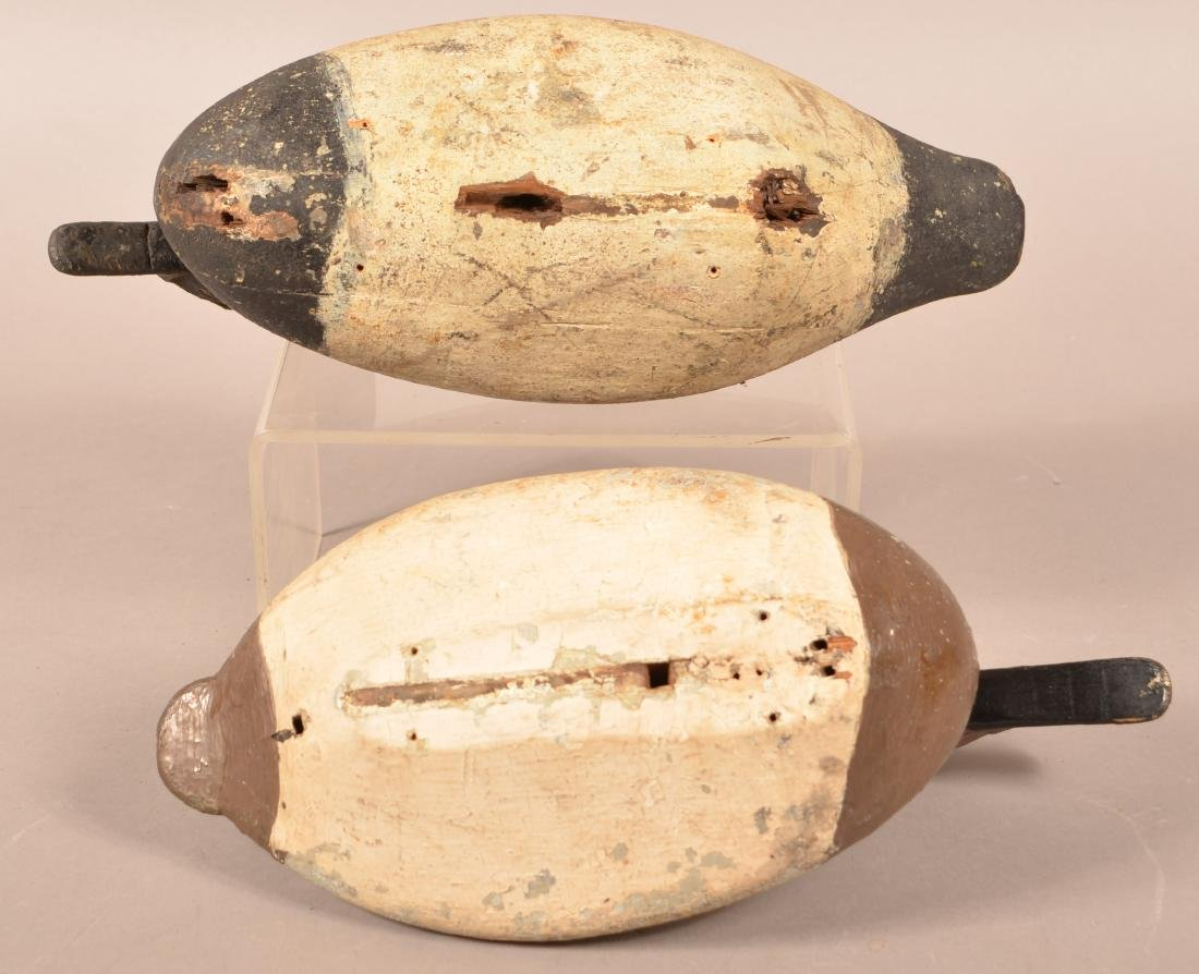 Two Carved Canvasback Drake Decoys. - 3